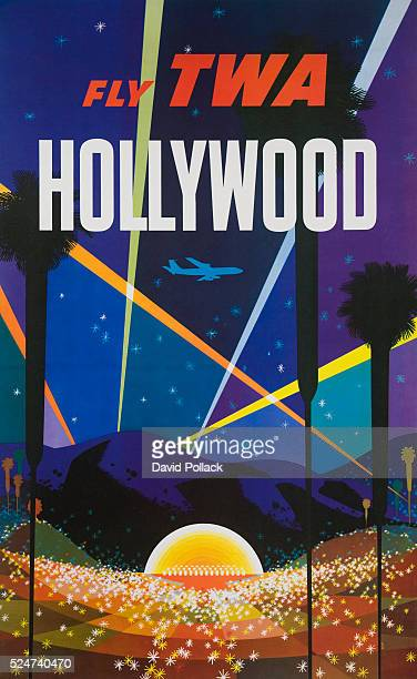 Fly TWA Hollywood Poster by David Klein