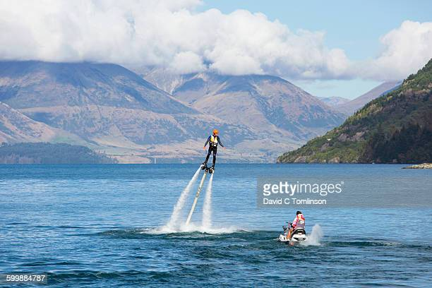Flyboarding on Lake Wakatipu, Queenstown