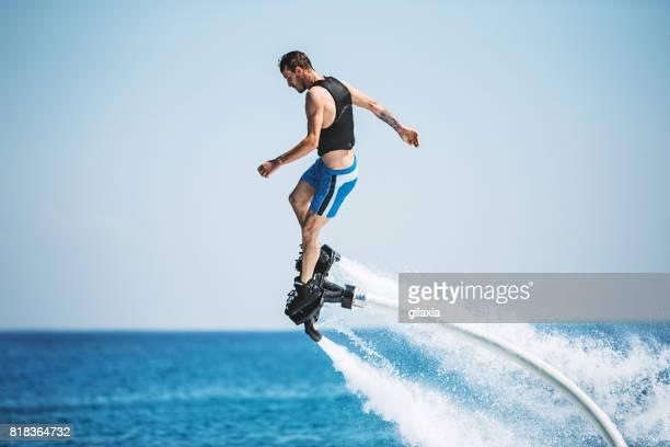 Flyboarding.