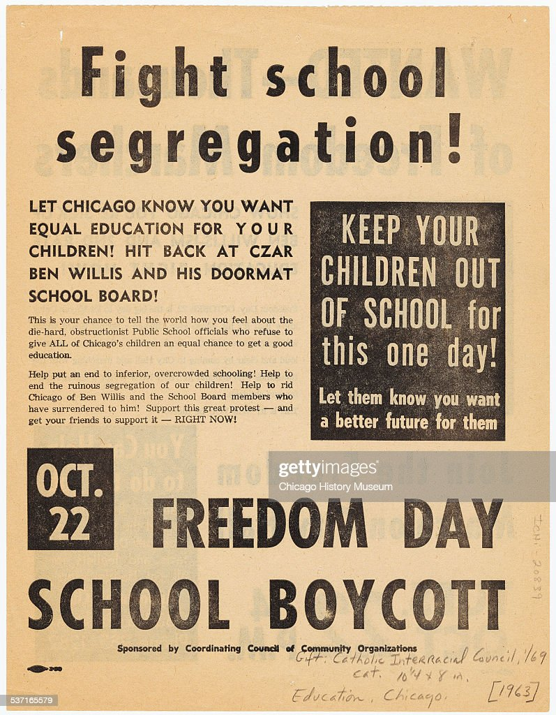 flyer advertising freedom day school boycott an event to protest