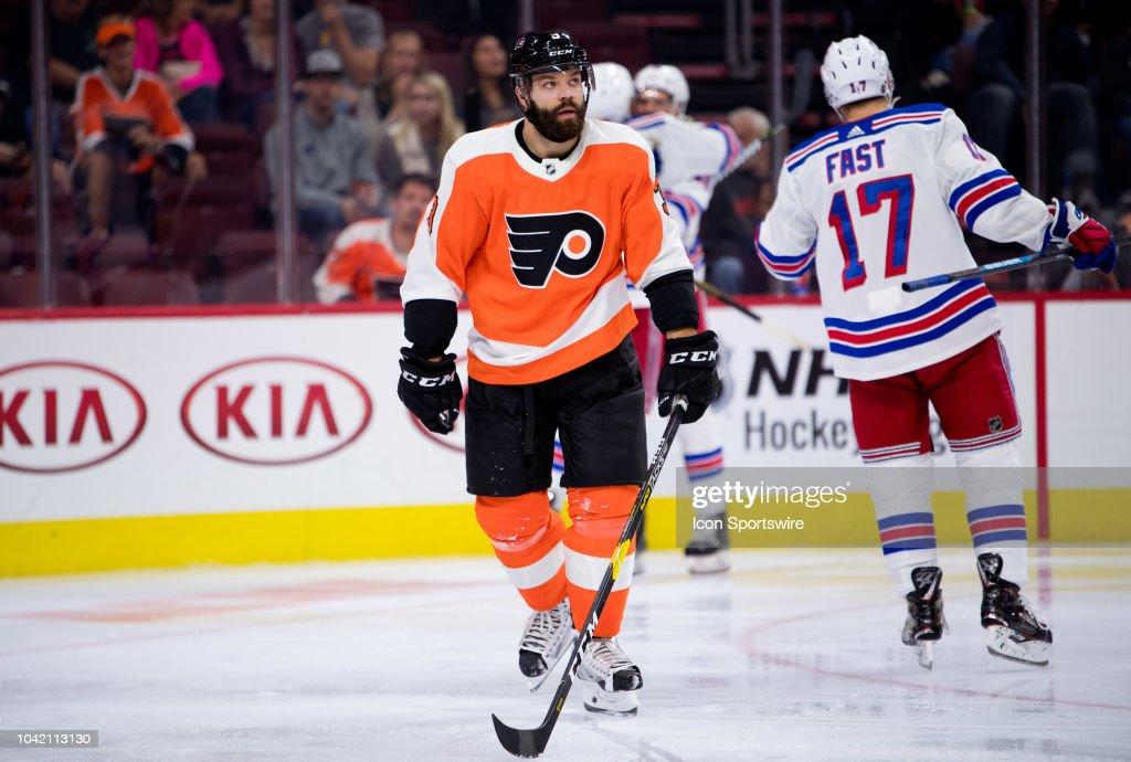 NHL: SEP 27 Preseason - Rangers at Flyers : News Photo
