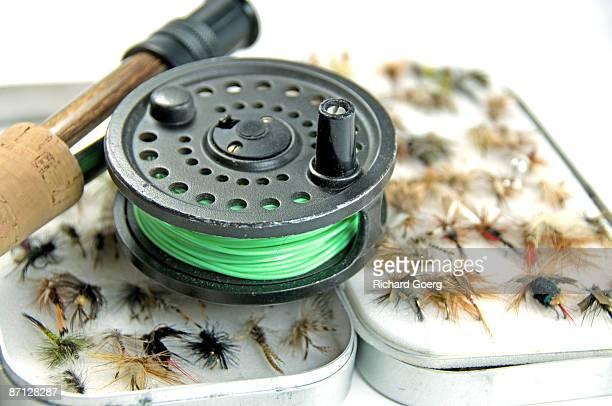 Flyfishing Reel and Flies