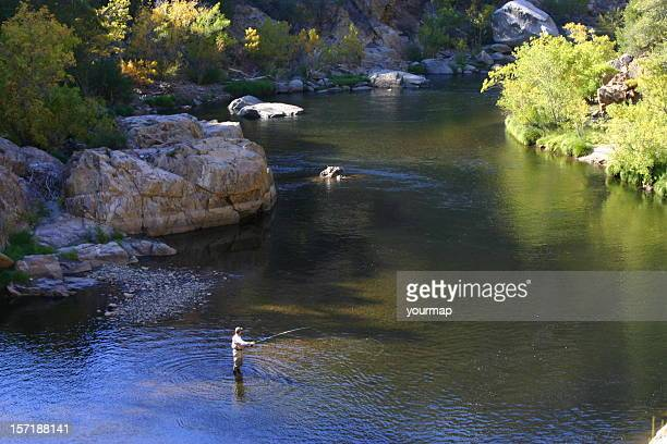 fly-fishing the kern - sequoia national forest stock photos and pictures