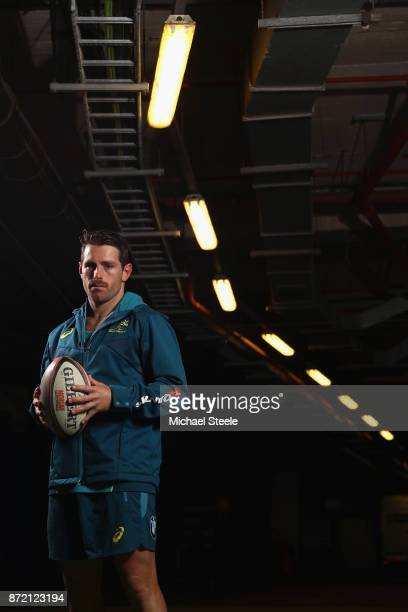 Flyhalf Bernard Foley poses for a portrait following the Australia training session at Cardiff Arms Park on November 9 2017 in Cardiff Wales