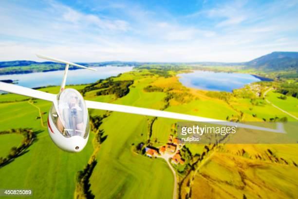 Ein Segelflugzeug fliegen Flugzeug