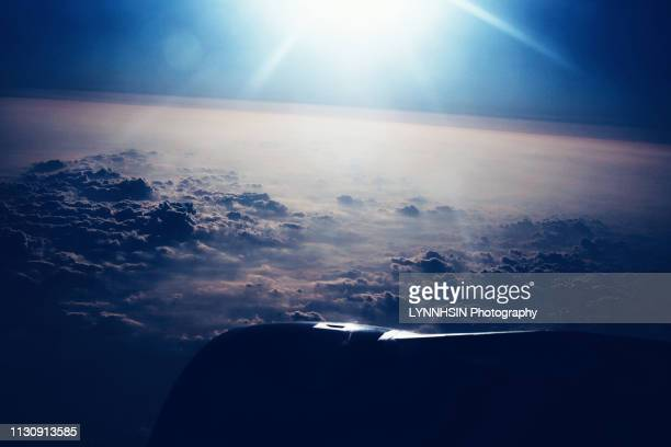 flying above the clouds - lynnhsin stock pictures, royalty-free photos & images