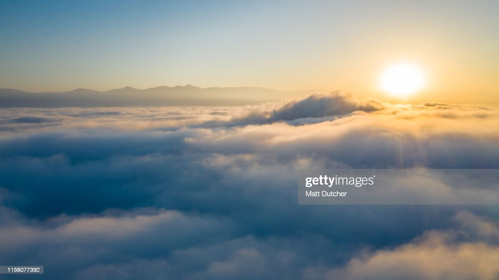 Flying above the clouds : Stock Photo