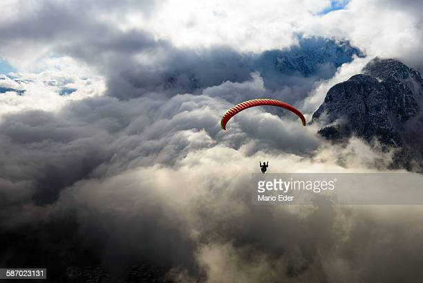 flying above the clouds - gliding stock photos and pictures