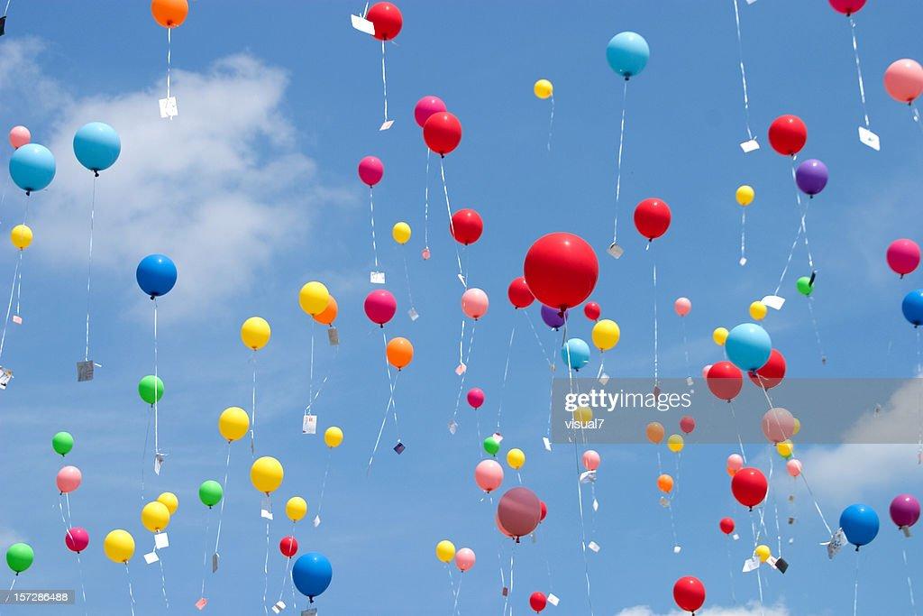 flying balloons : Stock Photo