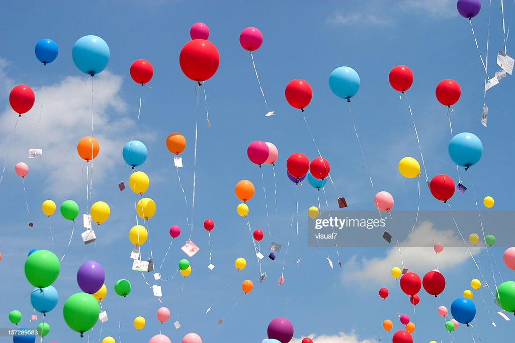 flying balloons : Stock Photo