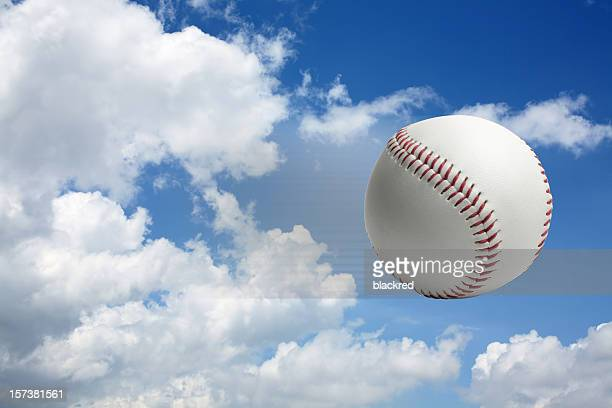 flying baseball - baseball trajectory stock photos and pictures