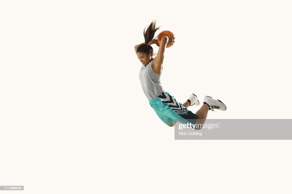 Flying Basketball Player 13 : Stock Photo
