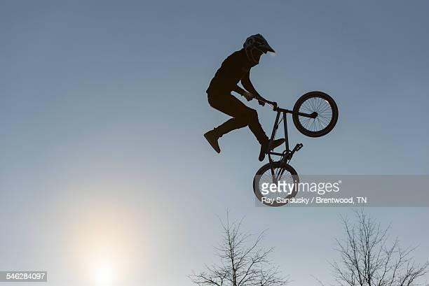 Flying Bike Silhouette