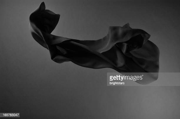 Flying black silk