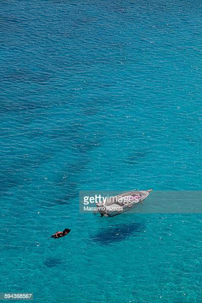 flying boats at tabaccara bay in lampedusa - massimo pizzotti foto e immagini stock