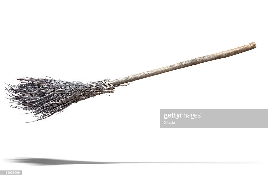 Flying Broom : Stock Photo