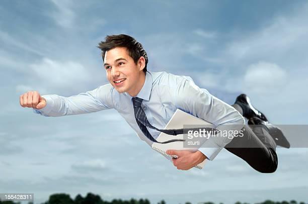 飛ぶビジネスマン