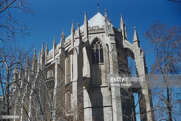Flying buttresses on the Washington National Cathedral in Washington DC USA circa 1960