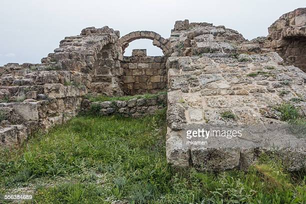 flying buttresses, salamis, north cyprus - flying buttress stock photos and pictures