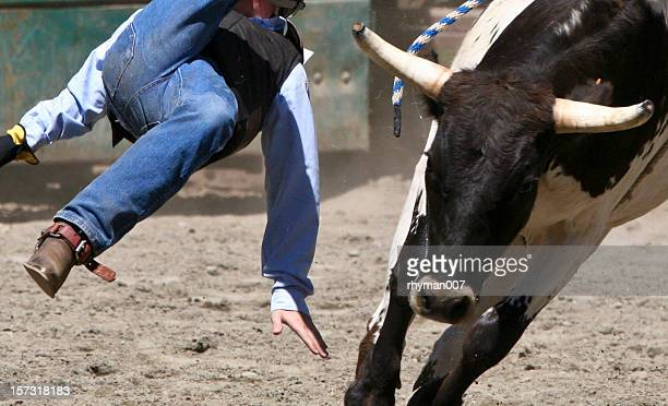 Flying Cowboy off a Bull