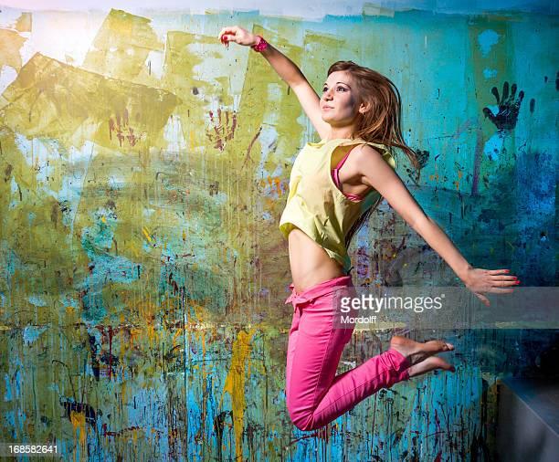 danseur volant - gogo danseuse photos et images de collection