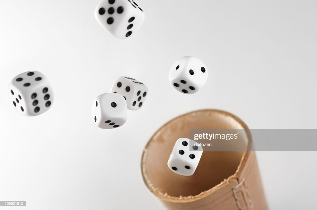 Flying Dices : Stock Photo