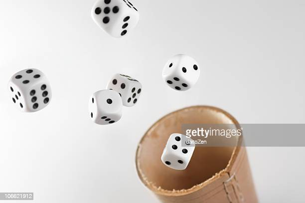 flying dices - dice stock pictures, royalty-free photos & images