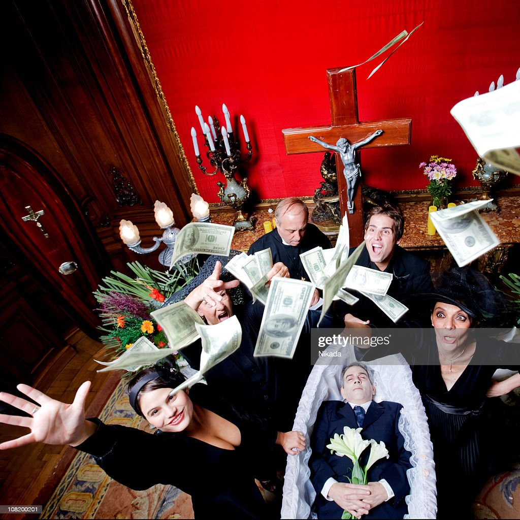 flying dollars : Stock Photo