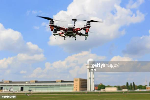 Flying drone - UAV unmanned aerial vehicle (Quadrocopter)