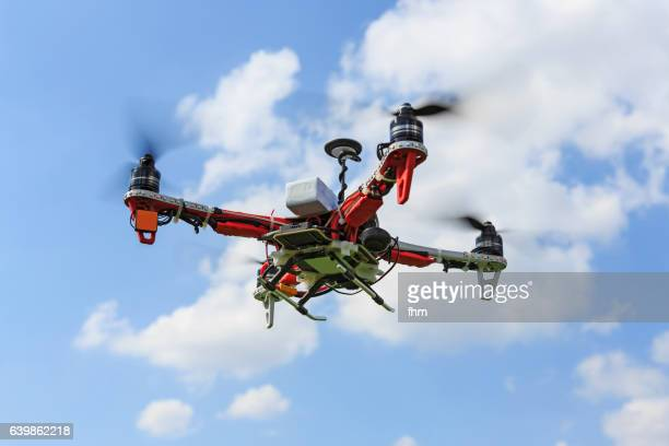 Flying drone - UAV unmanned aerial vehicle