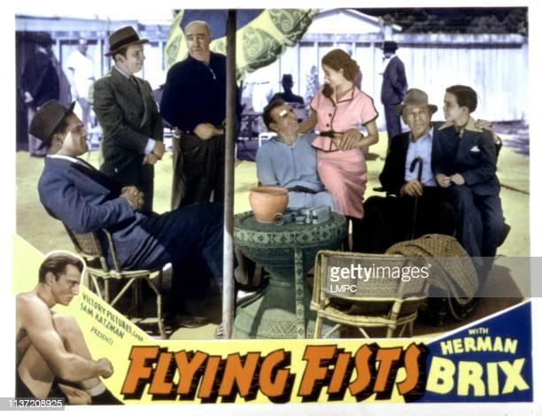 Flying Fists lobbycard Guinn Williams Charles Williams J Farrell Ma Guinn Williams Charles Williams J Farrell MacDonald Bruce Bennett Jeanne Martel...