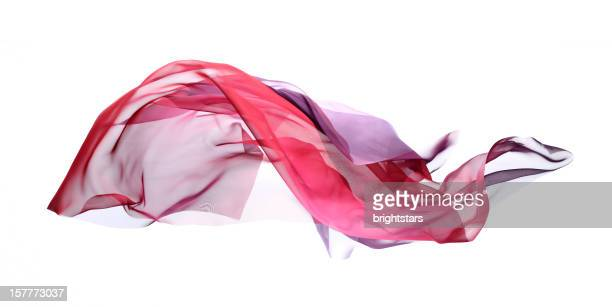 flying graduated silk from pink to purple - textile stock pictures, royalty-free photos & images