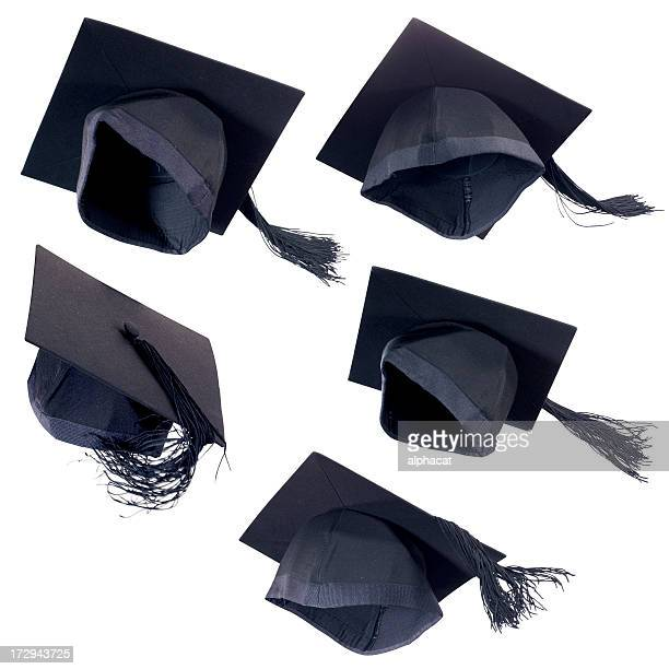 flying graduation cap - graduation cap stock pictures, royalty-free photos & images