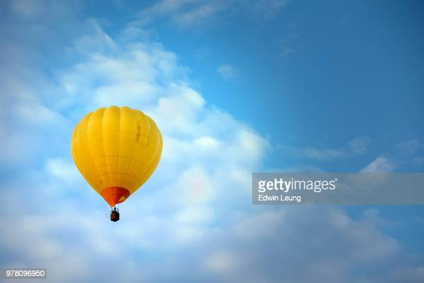flying high 2 - balloon ride stock pictures, royalty-free photos & images