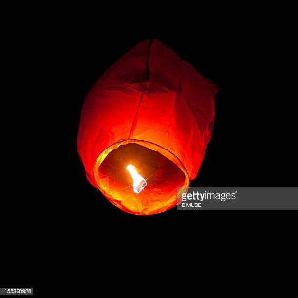 flying lantern - burns night stock pictures, royalty-free photos & images