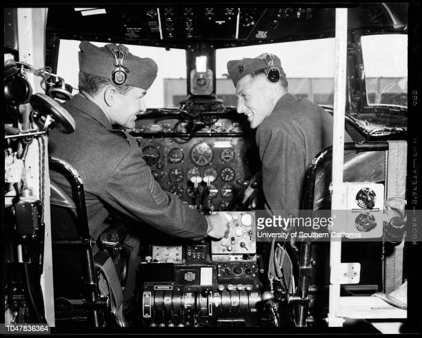 Flying Master Sergeants , 30 April 1954. Master Sergeant Wallace Cavette -- 31 years;Master Sergeant Charles K Holton -- 30 years;2nd Lieutenant R.A...