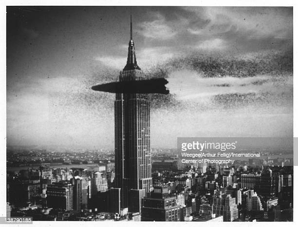 Flying Missile Hits Empire State Building twentieth century Photo by Weegee /International Center of Photography/Getty Images