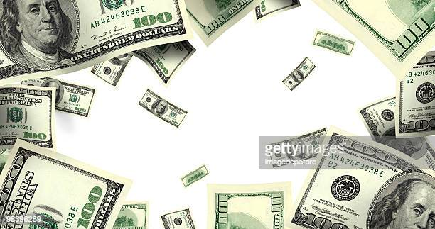 flying money over white - incentive stock pictures, royalty-free photos & images