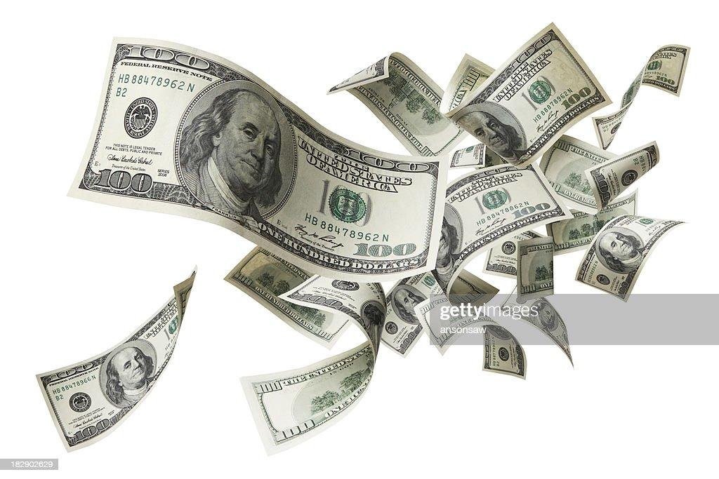 flying money : Stock Photo