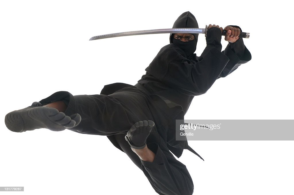 Flying Ninja : Stock Photo
