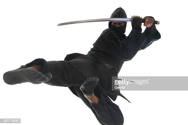 flying ninja - kung fu stock photos and pictures