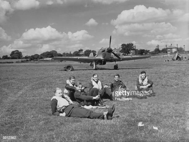 Flying Officer Rupert Smythe , Pilot Officer Keith Gillman , Pilot Officer John Proctor, Flying Officer Peter Brothers, Pilot Officer Douglas Grice ,...