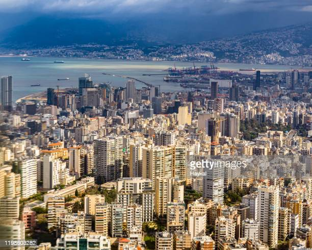 flying over beirut - beirut stock pictures, royalty-free photos & images