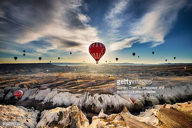 flying over cappadocia - cappadocia stock pictures, royalty-free photos & images