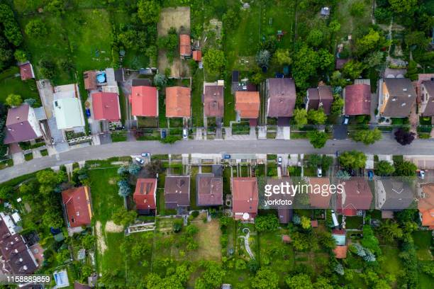 flying over city area - hungary stock pictures, royalty-free photos & images