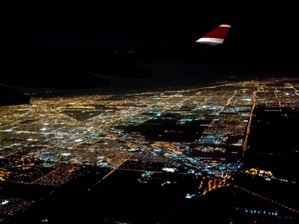 Flying over Miami at Night.