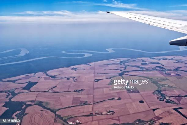 flying over the state of paraná, brazil - parana state stock pictures, royalty-free photos & images