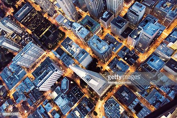 flying over transamerica pyramid, san francisco - downtown district stock pictures, royalty-free photos & images