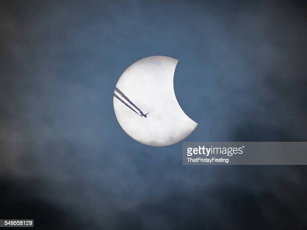 Flying past an eclipse