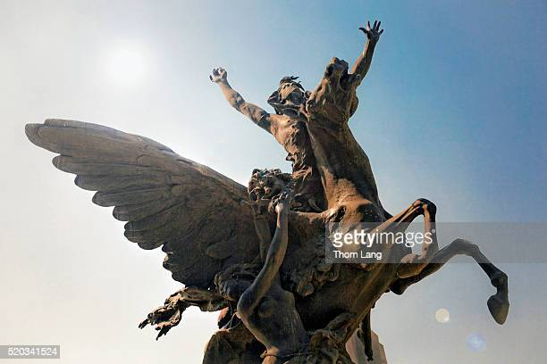 Flying Pegasus Sculpture at The Palace of Fine Arts, Mexico City